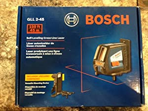Bosch GLL 2-45 Self-leveling Long-range Cross-line Laser NEW Gll2-45 0601063115