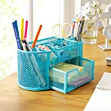 Speaking Life Supplies Caddy,mesh Spinning Sorter--blue