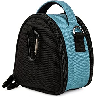 SumacLife Mini Laurel Compact Edition Nylon Camera Bag with Top Carrying Handle and Removable Shoulder Strap for Canon Powershot S100 / SX230 HS / SX220 HS / A2200 / A1200 / A3300 IS / A3200 IS / A800 / G12 / S95 / SD4500 IS / Digital IXUS 1000 HS / IXY 50S / SD4000 IS / IXUS 300 HS / IXY 30S / SX210 IS / SD3500 IS / IXUS 210 / IXY 10S / SD1400 IS
