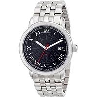 88 Rue du Rhone 87WA120040 Men's Analog Display Swiss Automatic Watch (Black Dial, Silver Band)