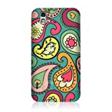 Ecell - HEAD CASE BLUE GREEN PAISLEY PATTERN SNAP-ON BACK CASE FOR LG OPTIMUS BLACK P970