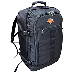 World Traveller Flight Approved Feather Light Weight Cabin Carry On Bag Backpack Hand Luggage Baggage Roller Suitcase Trolley Perfect for Easyjet Ryanair from World Traveller
