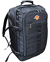 World Traveller Flight Approved Feather Light Weight Cabin Carry On Bag Backpack Hand Luggage Baggage Roller Suitcase Trolley Perfect for Easyjet Ryanair