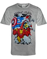Marvel Comics Official Gift Mens Character T-Shirt Iron Man Thor (RRP £14.99!)