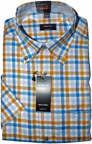 Eterna Casual Shirt 2226 Beige (Large)