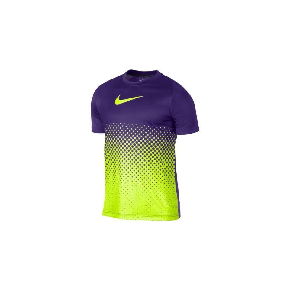 NIKE Mens GPX Gradient Short Sleeve Soccer T Shirt   Size 2xl, Court Purple/volt