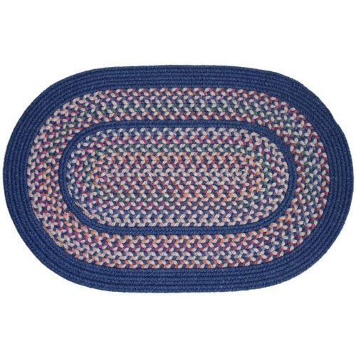 Rhody Rug TA-12-3x5 Tapestry Sailor Blue 3 ft. x 5 ft. Braided Rug
