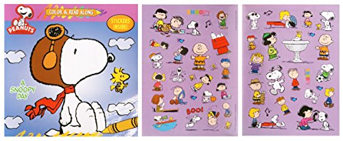 Peanuts Color and Read Along Book with Stickers - A Snoopy Day - 1