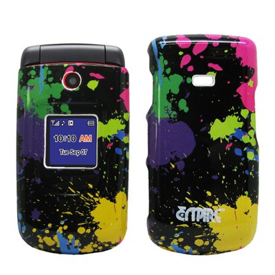 EMPIRE Paint Splatter Design Snap-On Cover Case for Alltel Samsung Contour R250