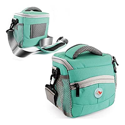 Tuff-Luv Small Shoulder Bag camera case cover (With Raincoat) for Digital Camera / Compact DSLR - Turquoise
