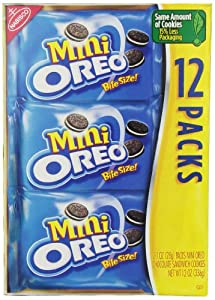 Oreo Multi Pack Mini cookie 12 pack