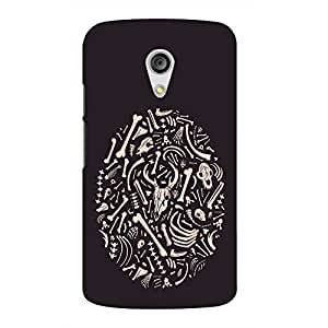 Back cover for Moto G (2nd Gen) Bone Pattern