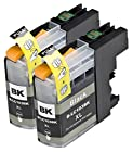 2 Pack Compatible with Brother LC101 , LC103 , LC105 2 Black for use with Brother DCP-J152W, MFC-J245, MFC-J285DW, MFC-J4310DW, MFC-J4410DW, MFC-J450DW, MFC-J4510DW, MFC-J4610DW, MFC-J470DW, MFC-J4710DW, MFC-J475DW, MFC-J650DW, MFC-J6520DW, MFC-J6720DW, MFC-J6920DW, MFC-J870DW, MFC-J875DW. Ink Cartridges for inkjet printers. LC101BK , LC103BK © Blake Printing Supply