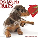 2016 Just Dachshund Rules Wall Calendar