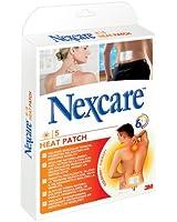 NEXCARE Boite de 5 patchs chauffants adhésifs, longévité 6h - Taille 13 x 9,5 cm