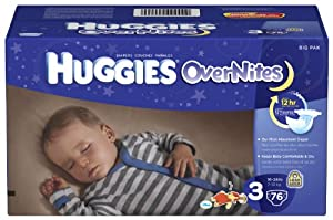 Huggies Overnites Diapers, Size 3, Big Pack, 76 Count