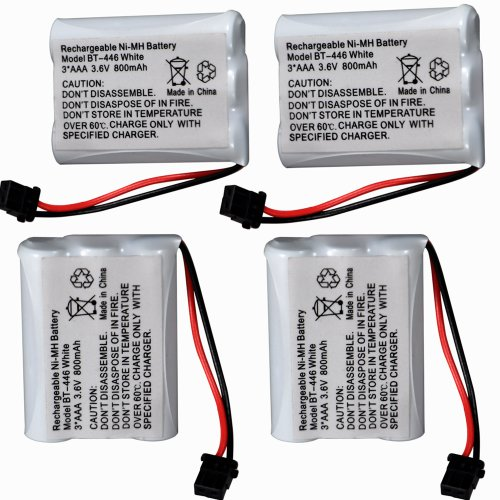 4 Pack 800Mah 3.6V Rechargeable Cordless Phone Batteries With High Quality For Uniden Bt-446 Bp-446 Bt-1005 Bt1005 Dct646 Dxc700 Dcx770 Dct6462 Dct648-2 front-558968