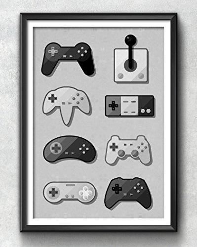 game-pad-print-gaming-poster-gaming-art-gaming-wall-art-gaming-print-gaming-illustration-vintage-gam