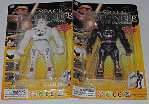 Space Defender Poseable Figure 2 Pack (color varies)