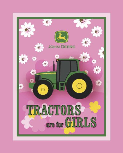 John Deere Fleece Tractors Are For Girls Fabric By The Yard, 59/60-Inch Wide, Pink front-27068