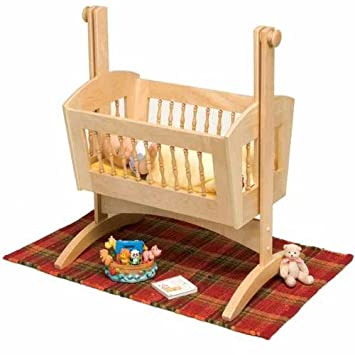 Woodworking ideas wishing wells pendulum doll cradle for Free log bed plans