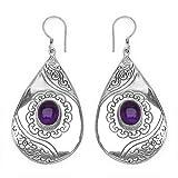Silvantra Amethyst Silver Earrings