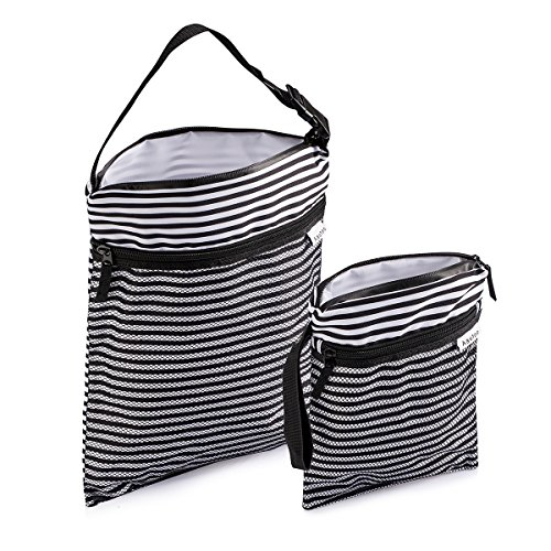Aautoo Travel Organizer Wet and Dry Bag Cloth Diaper Bags , 2pcs DUO Pack Large And Small (Wet Bag Travel compare prices)