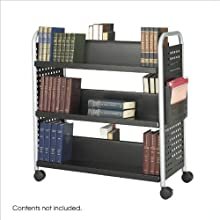Safco Products Scoot Double Sided 6 Shelf Book Cart (5335BL)
