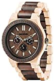 Amazon.co.jp[ウィウッド]WEWOOD 腕時計 ウッド/木製 マルチファンクション KAPPA CHOCO CREMA 9818080 メンズ 【正規輸入品】