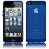 Coque Ultra Fine pour Apple iPhone 5 / 5s - Collection Transparent - Bleu - par PrimaCase