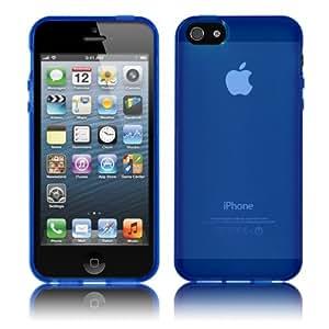 PrimaCase - Schutzhülle für Apple iPhone 5 / 5s - Transparent TPU Silikon in Blau