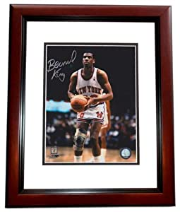 Bernard King Autographed Hand Signed New York Knicks 8x10 Photo - MAHOGANY CUSTOM... by Real+Deal+Memorabilia