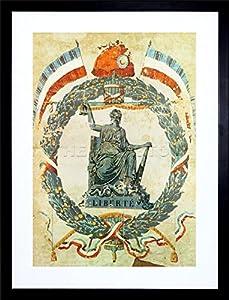 9x7 inch political cultural french revolution liberty france vintage advert framed for Poster revolution france