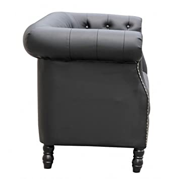 Fine Mod Imports Chester Loveseat, Black