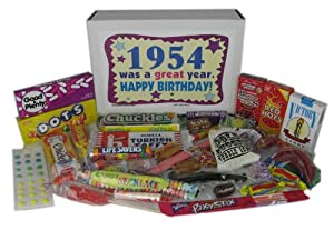 50's Retro Candy Decade Birthday Gift Box Jr. - Nostalgic Candy: 1954