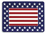 Creative Converting Red, White and Blue Patriotic Plastic Medium Serving Tray, 14 x 10
