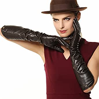 ELMA Lady's Elbow Long Nappa Leather Driving Gloves Super
