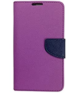 Novo Style Fancy Diary Wallet Flip Cover For Xiaomi Redmi Note 4G - Purple