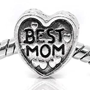 """ Love Best MOM Heart "" Antique"