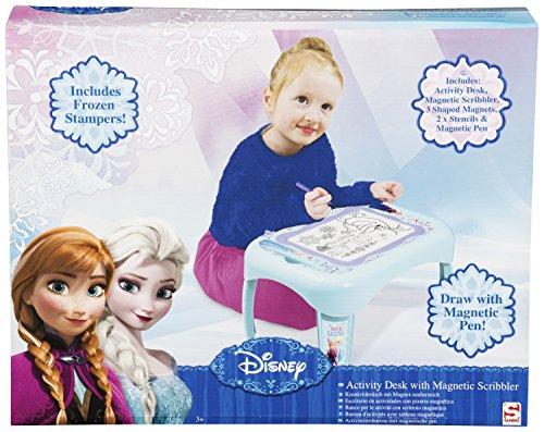 Disney - La Reine Des Neiges - Mini Table d'Activités avec Ardoise Magique