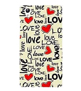 Vizagbeats Love and hearts Back Case Cover for Vivo Y51 L