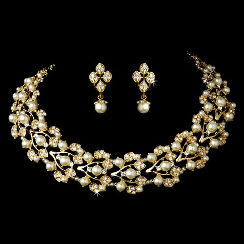 Bridal Wedding Jewelry Set Necklace Rhinestone