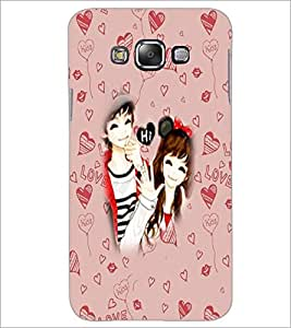 PrintDhaba Couple D-3200 Back Case Cover for SAMSUNG GALAXY A8 (Multi-Coloured)