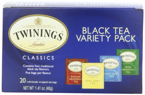 Twinings Variety Pack of Four Flavors, Tea Bags, 20-Count Boxes (Pack of 6) Reviews