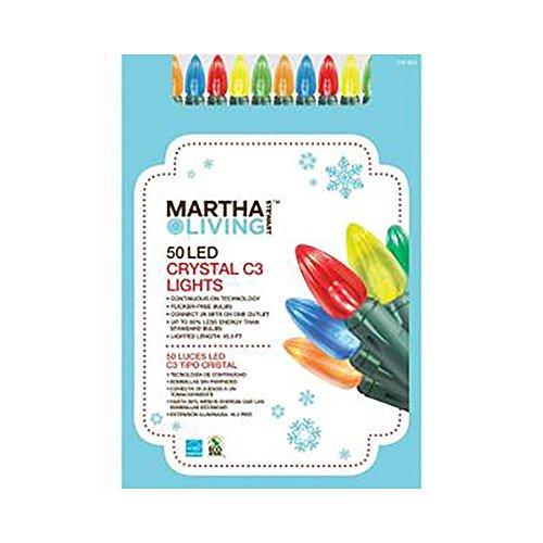 Martha Stewart Living 50-Light Led Multi-Color C5 Light Set