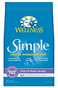 Wellness Simple Limited Ingredient Diet Grain Free Turkey & Potato Natural Dry Dog Food, 26-Pound Bag