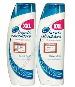 Head & Shoulders Anti-Schuppen Shampoo Classic Clean, 2er Pack (2 x 500 ml)