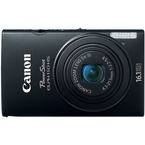 Canon PowerShot ELPH 110 HS 16.1 MP CMOS Digital Camera with 5x Optical Image Stabilized Zoom 24mm Wide-Angle Lens and 1080p Full HD Video Recording (Black)