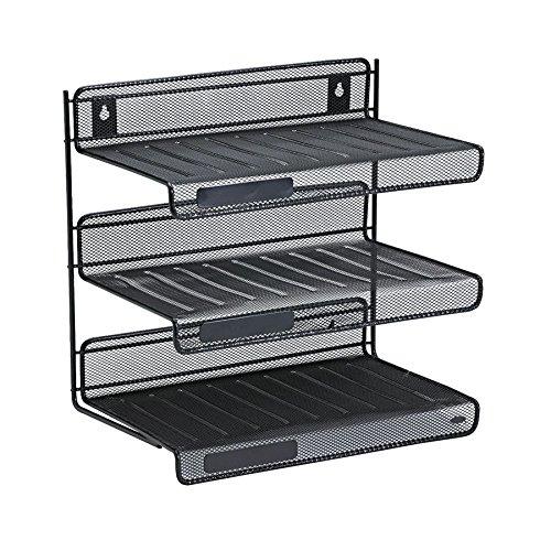 Tier Shelf Tray Storage File Folders Document Holder