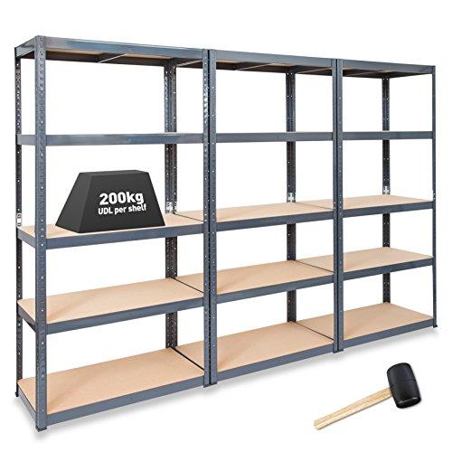 3-x-storalexr-600mm-deep-garage-shelving-racking-units-200kg-udl-free-mallet